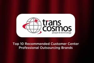 transcosmos China part of 2021 Top 10 Recommended Customer Center Professional Outsourcing Brands in China